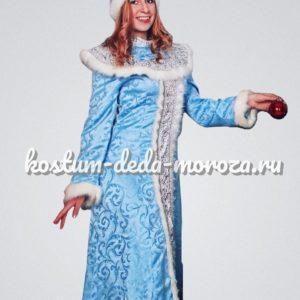 Костюм Снегурочки Нежный голубой