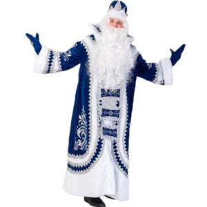 Костюм Деда Мороза Купеческий Cиний