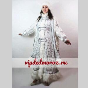 Костюм Снегурочки Царская белая