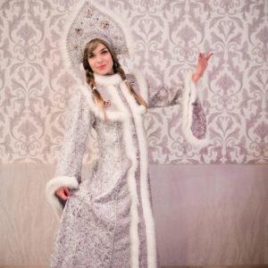 Костюм Снегурочки Королева с кокошником