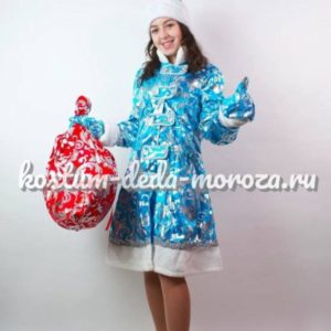 Костюм Снегурочки Узорный